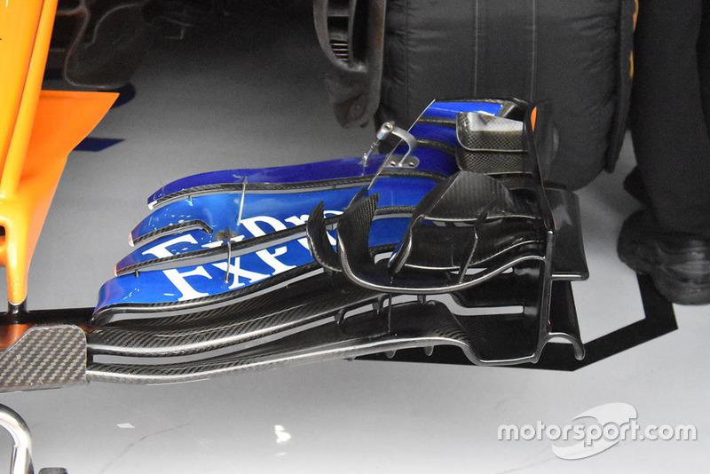 McLaren front wing technical detail