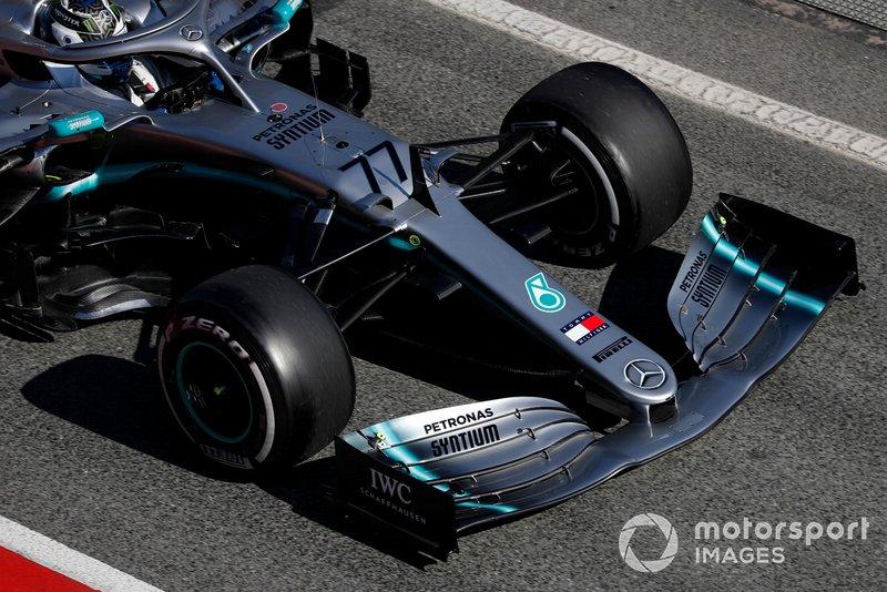 Valtteri Bottas, Mercedes-AMG F1 W10 : nez et aileron avant