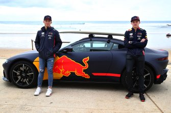 Max Verstappen, Red Bull Racing e Pierre Gasly, Red Bull Racing