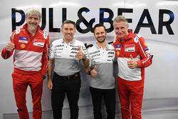 Gigi Dall'Igna, Jorge Maritnez, Paolo Ciabatti verkünden neuen Ducati-Kundenvertrag für Aspar für die MotoGP-Saison 2018