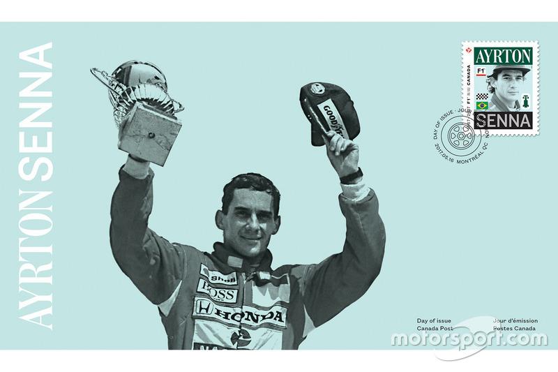 Sello de correos de Ayrton Senna