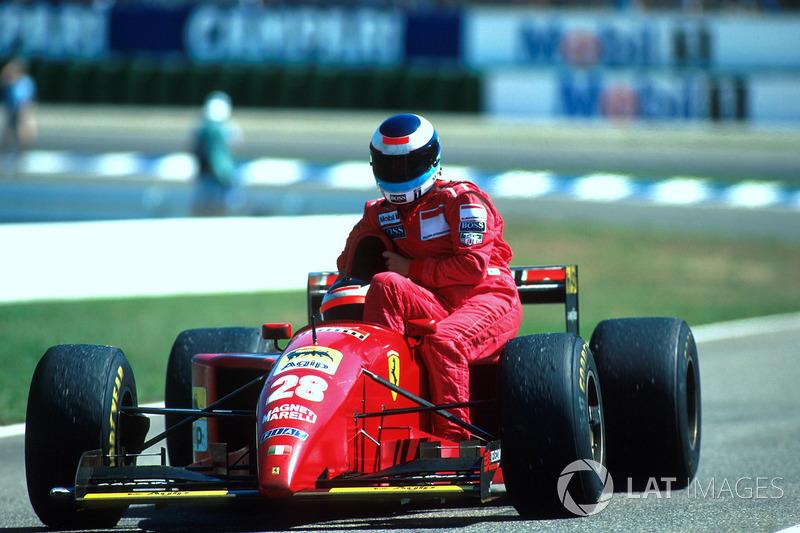 Hockenheim 1995: Gerhard Berger (Ferrari) lleva a Mika Häkkinen (McLaren)