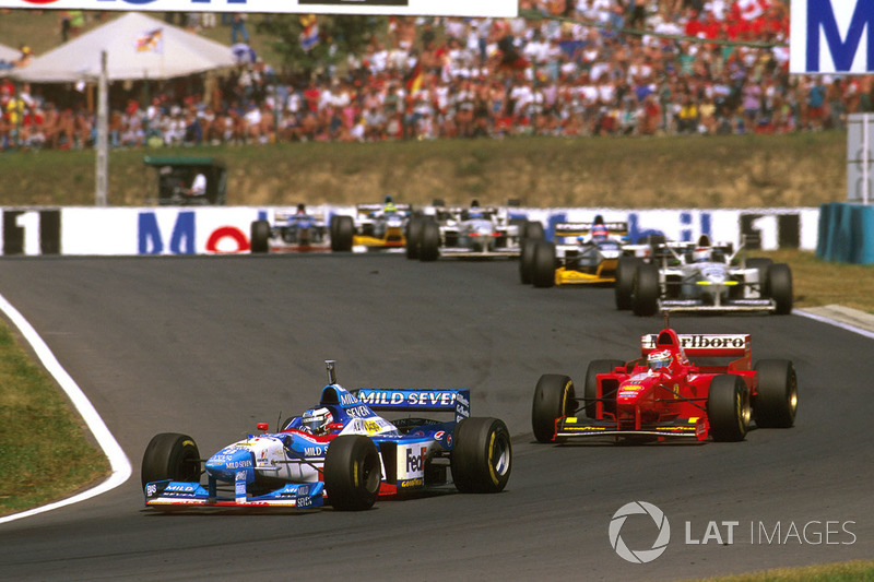 Gerhard Berger, Benetton B197 Renault,  Eddie Irvine Ferrari F310B