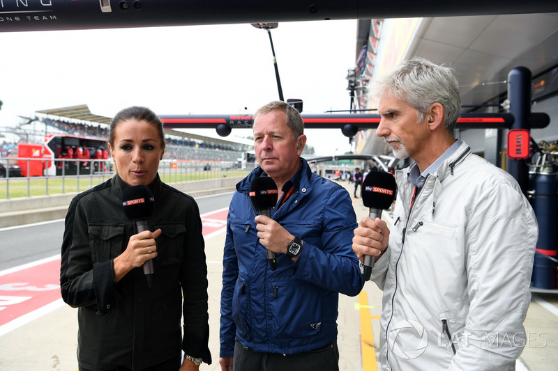 Natalie Pinkham, Sky TV, Martin Brundle, Sky TV yDamon Hill, Sky TV