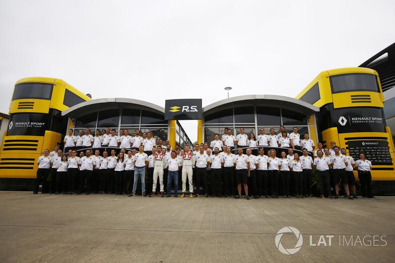 Piloto de prueba Sergey Sirotkin, René Arnoux. Jolyon Palmer, Renault Sport F1 Team, Nico Hulkenberg