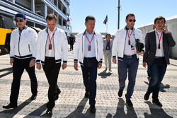 Veniamin Kondrytyev, Governor of Krasnodar Region, Dmitry Kozak, Deputy Prime Minister of the Russian Federation and Sergey Vorobyev, Sochi Autodrom Deputy General Director