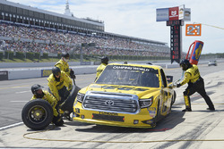 Cody Coughlin, ThorSport Racing Toyota, pit stop