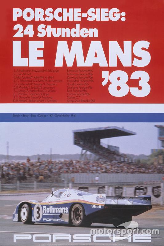 Poster Porsche 24h de Le Mans 1983
