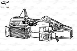 Châssis de la Ligier JS27