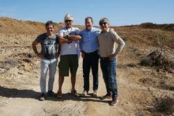 Walter Sciacca, direttore generale del circuito, Alex Caffi, ex Formula 1, e Marco Lucchinelli