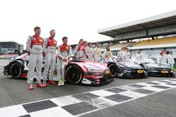 Gruppenfoto: Die DTM-Fahrer 2017