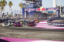 Start: Scott Speed, Andretti Autosport Volkswagen; Tanner Foust, Andretti Autosport, Volkswagen