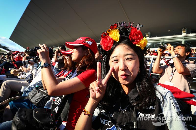 Un fan de Nico Hulkenberg, Sahara Force India F1