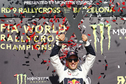 Podium: Race winner Mattias Ekström, EKS RX