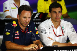 (L to R): Christian Horner, Red Bull Racing Team Principal and Toto Wolff, Mercedes AMG F1 Sharehold