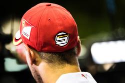 Sebastian Vettel in the pit