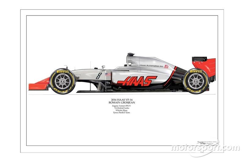 Artwork Haas VF-16 de Romain Grosjean