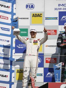 Podium: 2. Lance Stroll, Prema Powerteam Dallara F312, Mercedes-Benz