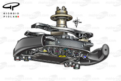Ferrari SF16H steering wheel back wishbone