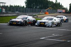 Daniel Juncadella, Mercedes-AMG Team HWA, Mercedes-AMG C63 DTM and Nico Müller, Audi Sport Team Abt Sportsline, Audi RS 5 DTM