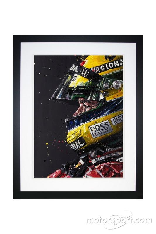 Peinture Ayrton Senna, de Paul Oz