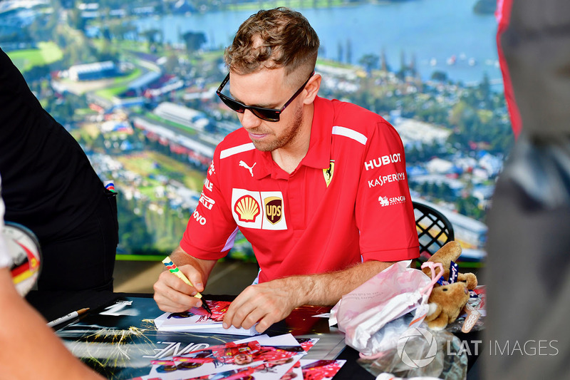 Sebastian Vettel, Ferrari at the autograph session