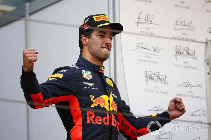 Pemenang: Daniel Ricciardo, Red Bull Racing