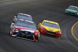 Kyle Busch, Joe Gibbs Racing, Toyota Camry Snickers Intense, Joey Logano, Team Penske, Ford Fusion Shell Pennzoil, and Clint Bowyer, Stewart-Haas Racing, Chevrolet Camaro Haas 30 Years of the VF1