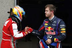 Polesitter Sebastian Vettel, Red Bull Racing, Fernando Alonso, Ferrari