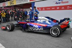 Pierre Gasly, Scuderia Toro Rosso STR13 and Brendon Hartley, Scuderia Toro Rosso STR13, the new Scuderia Toro Rosso STR13
