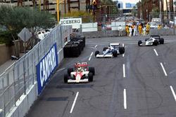 Ayrton Senna, McLaren Honda MP4/5B; Jean Alesi, Tyrrell 018; Gregor Foitek, Brabham BT58