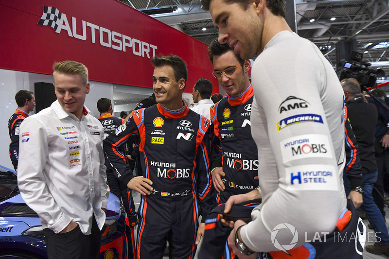 WRC drivers Dani Sordo and Thierry Neuville, Hyundai Motorsport