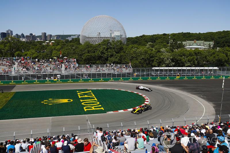 Carlos Sainz Jr., Renault Sport F1 Team R.S. 18 y Sergey Sirotkin, Williams FW41