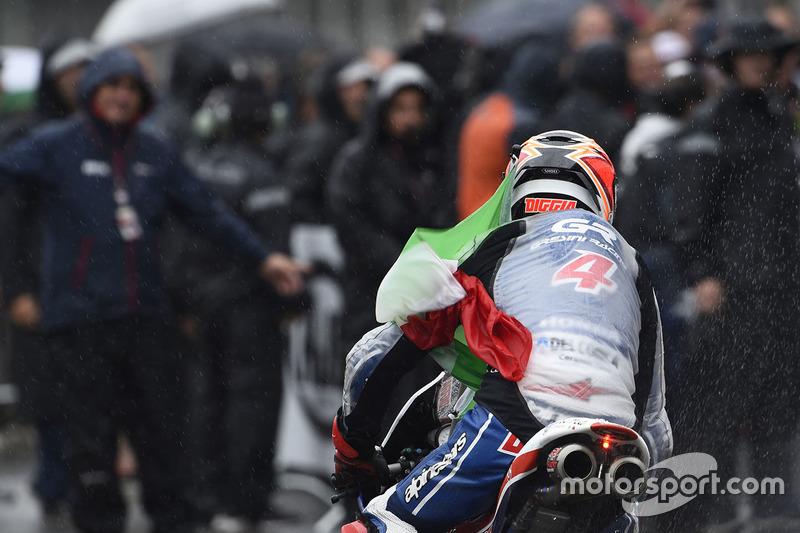 Il terzo classificato Fabio Di Giannantonio, Gresini Racing Moto3