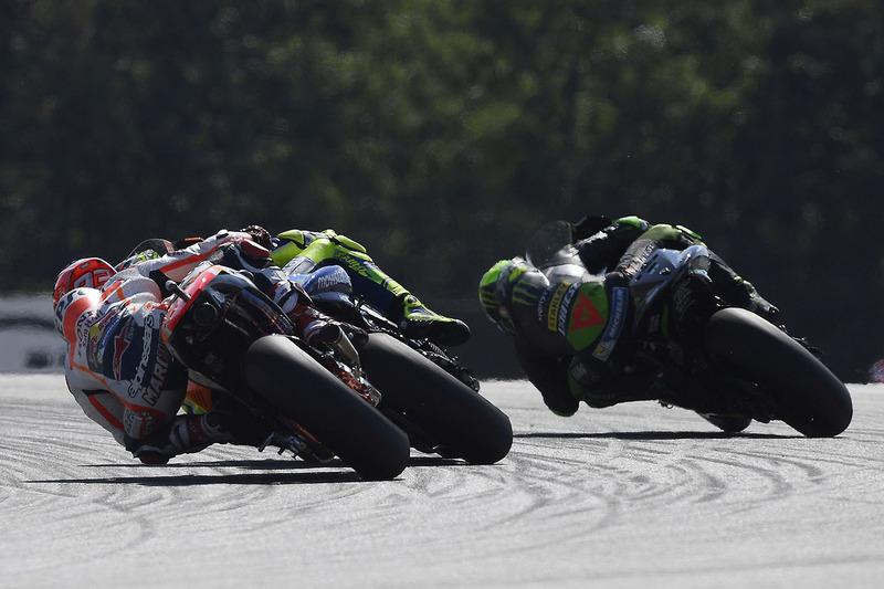 Marc Marquez, Repsol Honda Team, Valentino Rossi, Yamaha Factory Racing, Pol Espargaro, Tech 3 Yamah