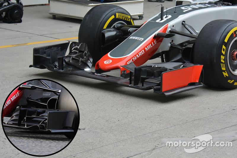 Haas F1 Team VF-16, Frontpartie-Detail