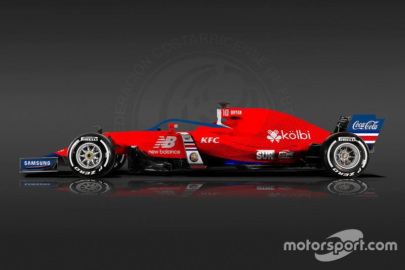 Formula 1 Dünya Kupası tasarımları - Kosta Rika