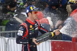 El ganador del Rally de Suecia 2018, Thierry Neuville, Hyundai Motorsport