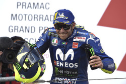 Podium: second place Valentino Rossi, Yamaha Factory Racing