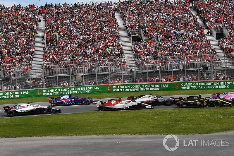 Charles Leclerc, Sauber C37 , alla partenza della gara