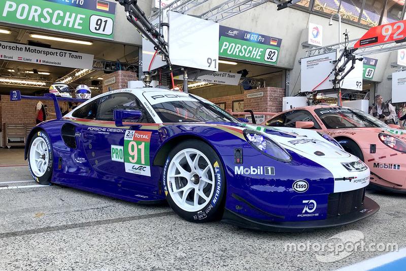 #91 Porsche GT Team Porsche 911 RSR con decoración especial.