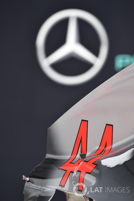 Parti della carrozzeria della Mercedes-AMG F1 W09