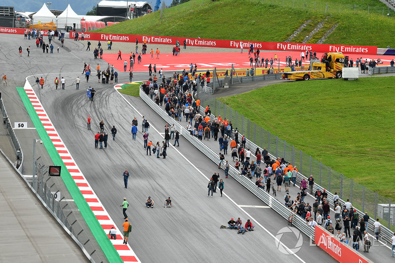Fans en la pista