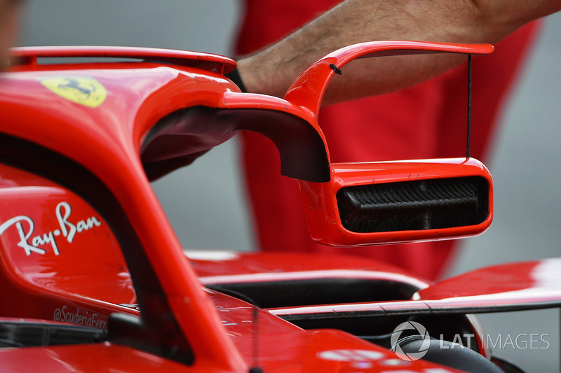 Зеркала на Halo Ferrari SF71H