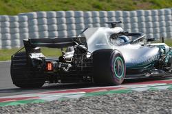 Valtteri Bottas, Mercedes-AMG F1 W09 met aerosensor op de achtervleugel