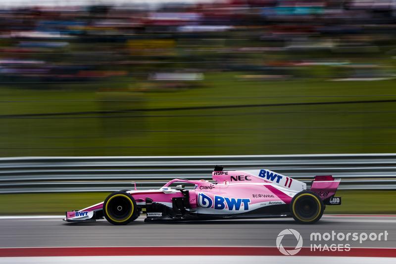 10. Серхіо Перес, Racing Point Force India F1 VJM11, 1:34.594