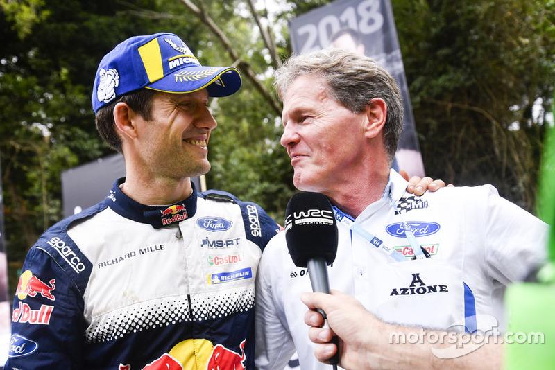 Il Campione 2018 del WRC Sébastien Ogier, M-Sport Ford, Malcolm Wilson