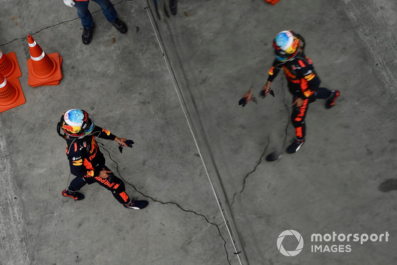 Daniel Ricciardo, Red Bull Racing en parc ferme