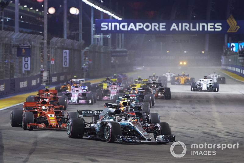 Lewis Hamilton, Mercedes AMG F1 W09 EQ Power+, Sebastian Vettel, Ferrari SF71H, Max Verstappen, Red Bull Racing RB14, Valtteri Bottas, Mercedes AMG F1 W09 EQ Power+, Daniel Ricciardo, Red Bull Racing RB14, Kimi Raikkonen, Ferrari SF71H