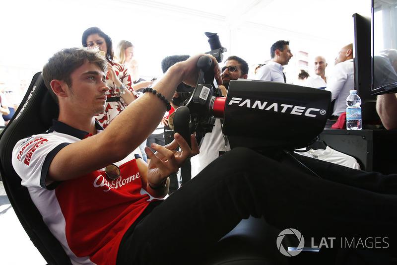 Charles Leclerc, Sauber menjajal simulator